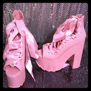 Shoes - Pink Ballet Bae Platforms